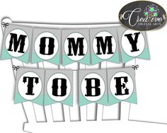 Shower Mint Theme Mint And Gray Party Decorations Chair Banner CHAIR BANNER, Shower Activity, Shower Celebration - lm001 #babyshowerparty #babyshowerinvites