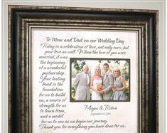 Wedding Gift for parents of the bride and groom, Wedding Thank you gift for parents # thank you Parenting Celebrating the Special Moments in Your LIfe by PhotoFrameOriginals Thank You Gift For Parents, Wedding Gifts For Parents, Wedding Thank You Gifts, Wedding Gifts For Groom, Personalized Wedding Gifts, Bride Gifts, Gifts For Mom, Anniversary Party Decorations, 50th Anniversary Gifts