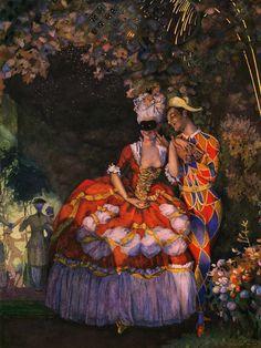 К.А.Сомов - Арлекин и дама. 1910