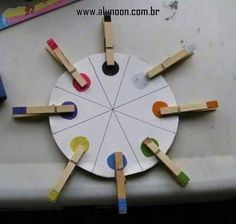 preschool, fine motor color matching - it'd work with upper and lower case letter matching too. Color Activities, Toddler Activities, Preschool Activities, Kids Crafts, Preschool Crafts, Learning Games, Kids Learning, Colegio Ideas, Preschool Colors