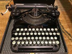 Vintage Original Smith Corona Model Four - Manual Portable Typewriter with Case #Corona