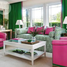 Jessie Holmes Springer: Interior Inspiration: Pink + Green
