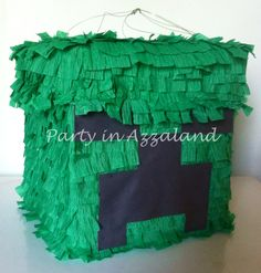 Homemade creeper pinata