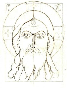 Drawing for the Icon of Christ not made by Hands, by the author