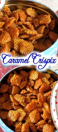 2 small boxes of Crispix Cereal 2 cups of butter 2 cups of brown sugar ½ cup Light Karo syrup ½ tsp Vanilla ½ tsp Baking Soda Oven Bake stir way. Snack Mix Recipes, Yummy Snacks, Appetizer Recipes, Cooking Recipes, Yummy Food, Appetizers, Snack Mixes, Cereal Recipes, Paleo Cereal