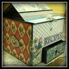 CINDY'S PAPER CREATION: Recipe Organizer ~ Kathy Orta Files & Graphic 45 French Country