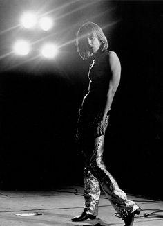 Iggy Pop at Kings Cross Cinema photographed by Mick Rock, London, 1972