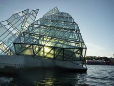 Glass iceberg in Oslofjord, just outside the Oslo Opera House