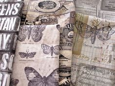 I'm looking forward to Tim Holtz's line of Fabric... I can't wait for it to come in!