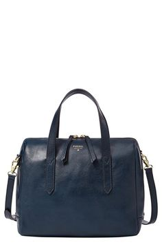 """Fossil 'Sydney' Satchel available at #Nordstrom•Dimensions: 10 1/2""""W x 8""""H x 5 1/2""""D with 21"""" handle drop."""