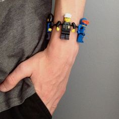 Cool way to upcycle legos! Again use velcro so it can be used for fidget for asd child