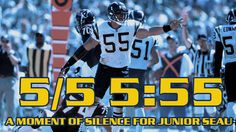 Moment of Silence for Junior Seau: May 5th, 5:55 p.m.