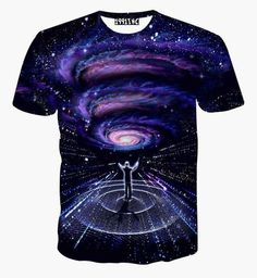 Galaxy Boys and Girls All Over Print T-Shirt,Crew Neck T-Shirt,Trippy Planet in