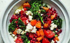 Roasted Butternut Squash, Kale and Feta Salad