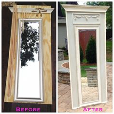 47 Ideas Diy Home Decor Country Bedroom Mirror For 2019 Furniture Projects, Furniture Makeover, Diy Furniture, Furniture Movers, Trumeau Mirror, Diy Mirror, Mirror Walls, Mirror House, Sunburst Mirror