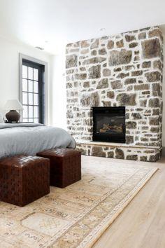 Fireplace Mortar, Painted Stone Fireplace, Stone Fireplace Makeover, Fireplace Update, Paint Fireplace, Old Fireplace, Fireplace Remodel, Fireplace Makeovers, Modern Stone Fireplace