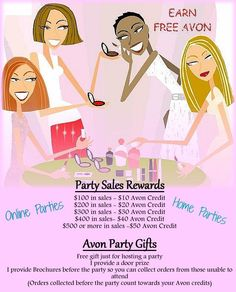 Earn FREE AVON by hosting a glam party