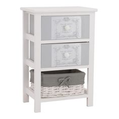 WOODEN DRAWER IN CREAM-GREY COLOR 42X31X62 - Drawers - Consoles - FURNITURE