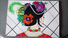 dessin relief fleurs couleurs demi-perles salon barioler