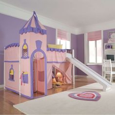 9b1ce0200bf0 Schoolhouse Twin Princess Loft Bed - Bunk Beds   Loft Beds at Hayneedle