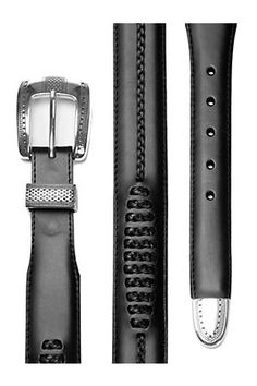 Men, black, belt, western