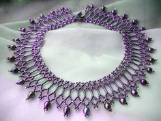 Free pattern for necklace Diane