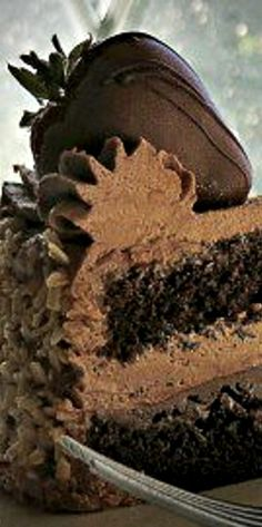 Classic Diner Style Chocolate Cake
