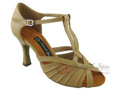 Natural Spin Latin Shoes(Small Open Toe):  M1136-26_157BeBrP