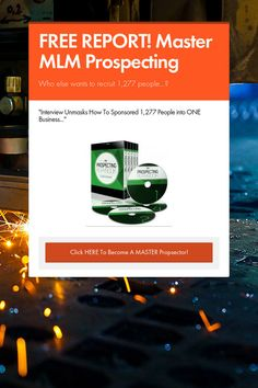 Help spread the word about FREE REPORT! Master MLM Prospecting. Please share! :)