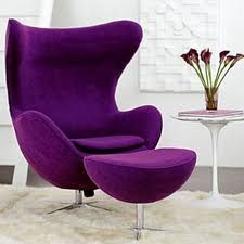 purple chair need this for my room lol Purple Furniture, Cool Furniture, Accent Furniture, Modern Furniture, Purple Home Decor, Purple Chair, Purple Rooms, All Things Purple, Deco Design