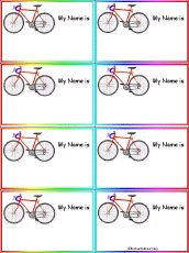 name tags, bicycl parti, bicycl nametag