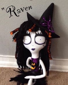 Here is another doll they made:) See there Etsy store in my profile! They are totally hand made!  #creepycrafts #craft #crafts #crafty #crafting #doll #dolls #creepy #creepydoll #creepydolls #nightmarebeforechristmas #thenightmarebeforechristmas #pumpkinking #jackthepumpkinking #spooky #scary #halloween #christmas