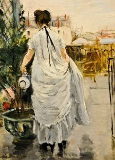 Berthe Morisot - Young Woman Watering a Shrub, 1876 at the Virginia Museum of Fine Arts (VMFA) Richmond VA