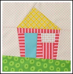 Wonky House tutorial: http://thesewingchick.blogspot.com/2013/03/wonky-house-block-tutorial.html