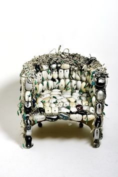 Mona, A Functional Sculpture Made From 259 Recycled Computer Mice & the Bones of an Old Chair