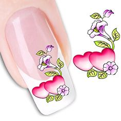 Nail Art Accessories Sweet Design Beauty Nail Stickers Nail Art Diy Stickers Decals Heart G Nail Art Supplies, Nail Art Tools, Nail Art Diy, Diy Nails, Manicure Tools, Nail Water Decals, Nail Art Stickers, Nail Decals, Nailart