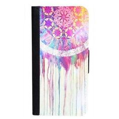 CellPowerCasesTM The Dream Catcher Painting iPhone 6 (4.7) Bi-fold... (57 BRL) ❤ liked on Polyvore featuring accessories, tech accessories, black, iphone cover case, apple iphone cases, pattern iphone case and apple iphone 4 case