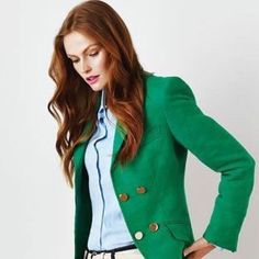 Green Blazer jacket Green blazer jacket short waist with a stretching fabric. Great conditions and well keep  Jackets & Coats Blazers