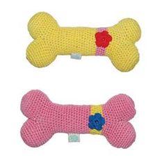 Flower Dog Bone Toy