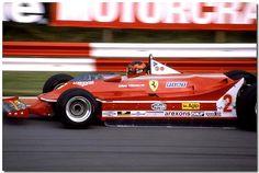 Gilles Villeneuve Ferrari 312T5 F1 1980 British GP Brands Hatch