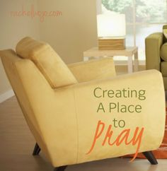 Whether you live in a busy house full of people or you live alone, we all have distractions that at times prevent us from truly focusing on prayer. This post contains great tips on creating a place to pray no matter the size or style of your home. Prayer Closet, Prayer Room, Prayer Wall, Christian Living, Christian Faith, Ideas Armario, Prayer Corner, Prayer Times, Spiritual Life
