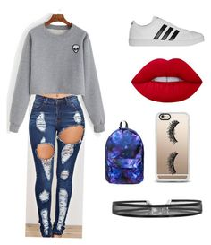 """""""Untitled #14"""" by madystultz on Polyvore featuring adidas, Lime Crime and Casetify"""