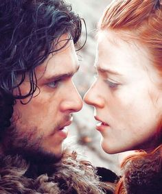 Kit Harington as Jon Snow and Rose Leslie as Ygritte in Game of Thrones, 2013