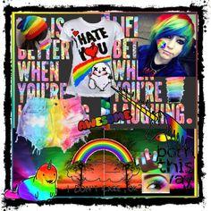 prettyfull rainbow, created by pikagirl96 on Polyvore