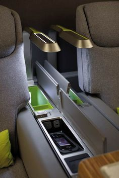 Priestmangoode drew inspiration from domestic interiors to design a first-class cabin with sofas and wardrobes for Brazilian airline TAM. Car Interior Sketch, Car Interior Design, First Class Airline, Aircraft Interiors, Car Interiors, Airplane Interior, First Class Seats, Futuristic Cars, Aircraft Design