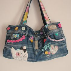 Roxy Creations: Jeans bag for Lulu