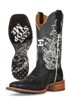 Womens Black Cant Stop Me Cinch Edge Boots