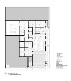 Image 40 of 42 from gallery of Private House in Permata Hijau / Rafael Miranti Architects. Modern Tropical House, Tropical Houses, Security Room, Inside Home, Ground Floor Plan, House Roof, House Layouts, Common Area, 2nd Floor