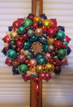 shiny bright wreath #christmas