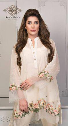 Saira Habib Eid Lawn Festive Season Dresses 2016 In case you are something similar to Pakistani Dresses Casual, Pakistani Dress Design, Indian Dresses, Indian Outfits, Pakistani Bridal, Stylish Dresses, Casual Dresses, Fashion Dresses, Casual Wear